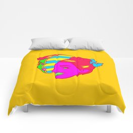 Retro Slice Girl Comforters