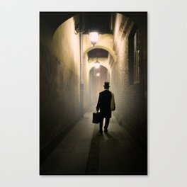 Victorian man with top hat Canvas Print