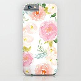 Floral 02 - Medium Flowers iPhone Case