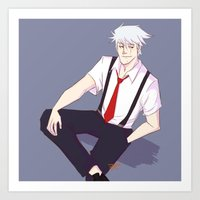 kakashi Art Prints featuring Kakashi by Ferkashi