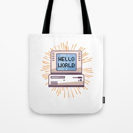 Software Programming Hello World Tote Bag
