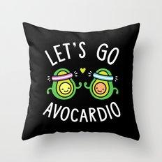 Let's Go Avocardio Throw Pillow