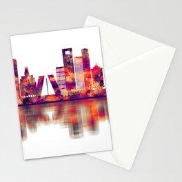 Madrid Spain Skyline Stationery Cards