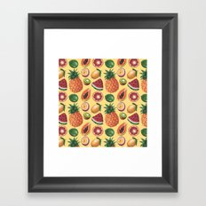 Fruit Pattern Framed Art Print
