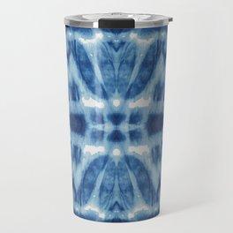 Tie Dye Blues Twos Travel Mug
