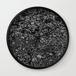 shale shock, black and white Wall Clock
