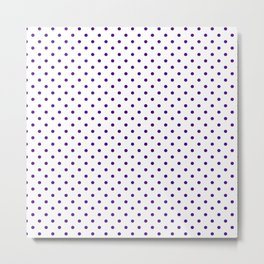 Dots (Indigo/White) Metal Print