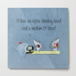 shark fast food Metal Print