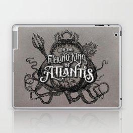 The Fucking King of Atlantis - b&w Laptop & iPad Skin