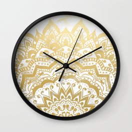 GOLD ORION JEWEL MANDALA Wall Clock