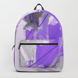 Ultra Violet Abstract Wall Art. Ultra Violet Scandinavian Acrylic Painting. Lovely Home Decor Backpack