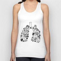 lungs Tank Tops featuring LUNGS by AA / Anaïs Dedit