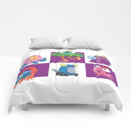 Six Silly Little Monsters Comforters