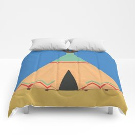 Tipi Green Red Comforters