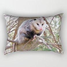Possum on a Branch Rectangular Pillow
