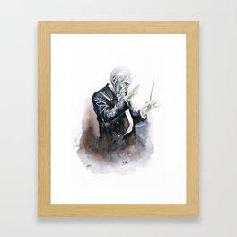 Leonard Bernstein Portrait Framed Art Print