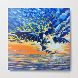 Dragon Flight Metal Print