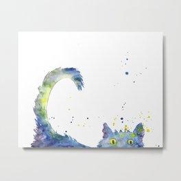 Colorful Cat Metal Print