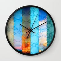 blues Wall Clocks featuring Blues by Olivia Joy St.Claire - Modern Nature / T