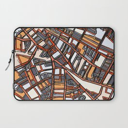 Abstract Map - Porter Square Somerville Laptop Sleeve