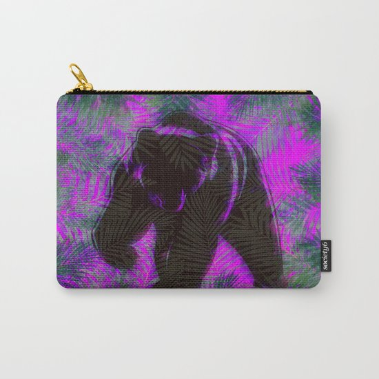 Bear with palm leaves Carry-All Pouch