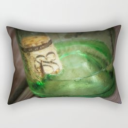 Wine Bottle Food Art by Murray Bolesta! Rectangular Pillow