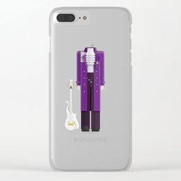 Prince - Singer Outfit Minimal Sticker Clear iPhone Case