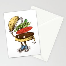 Burger Greeting Stationery Cards
