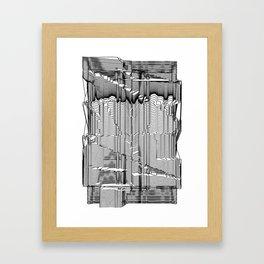Refracture of the False Mend // Blackline Framed Art Print