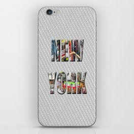 New York (color type on mono) iPhone Skin