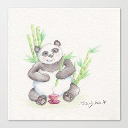 A Panda's Tea Canvas Print