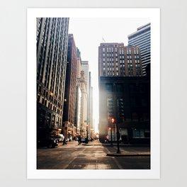Chicago Street Commuter Art Print