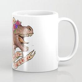 Dinosaur Eat Man. Woman Inherits the Earth Coffee Mug