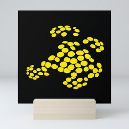 Growing - Black, and Yellow Dots Mini Art Print