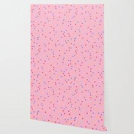 Pink Doughnut Inspired Polka Dot Pattern for Home Decor | Rainbow Spinkles Wallpaper