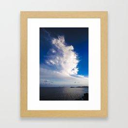 Cloud formation above Caribbean Sea Framed Art Print