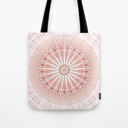 Blush Apricot Mandala Tote Bag