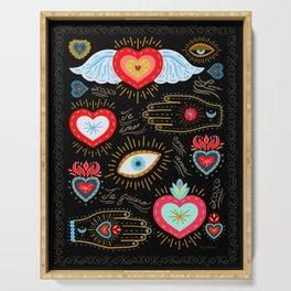 Milagro Love Hearts - Black Serving Tray