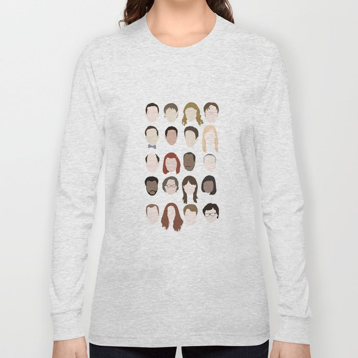 2115cae820e the office minimalist poster Long Sleeve T-shirt by ...
