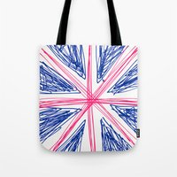 uk Tote Bags featuring UK by R.Bongiovani