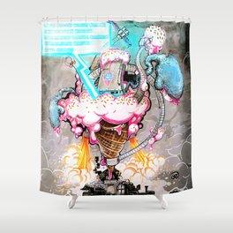 """""""Eiscreme 2099"""" Shower Curtain"""