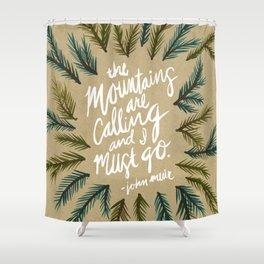 Mountains Calling – Kraft Shower Curtain