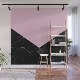 mauve and black marble Wall Mural