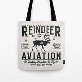 Reindeer Aviation - Christmas Tote Bag