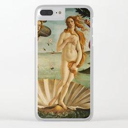 The Birth of Venus (Nascita di Venere) by Sandro Botticelli Clear iPhone Case