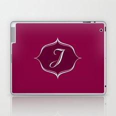 J Monogram Burgundy Laptop & iPad Skin