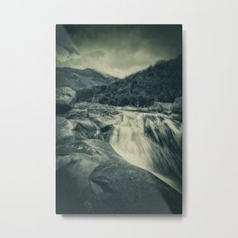 The River in the Mountains Metal Print