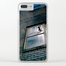 Blue Street Abstracts 4 Clear iPhone Case
