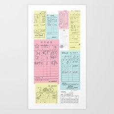 Japan Bills Art Print