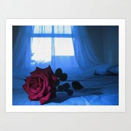 POET'S ROSE Art Print